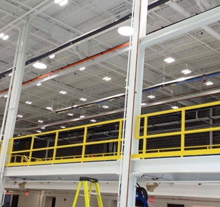 Mezzanine with Designed Lighting System